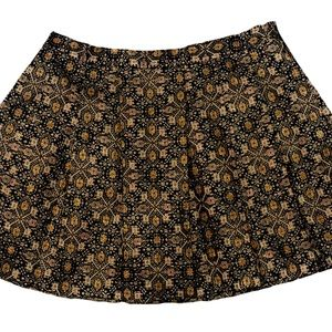 Forever 21 Plus size brocade Metallic Skater Skirt
